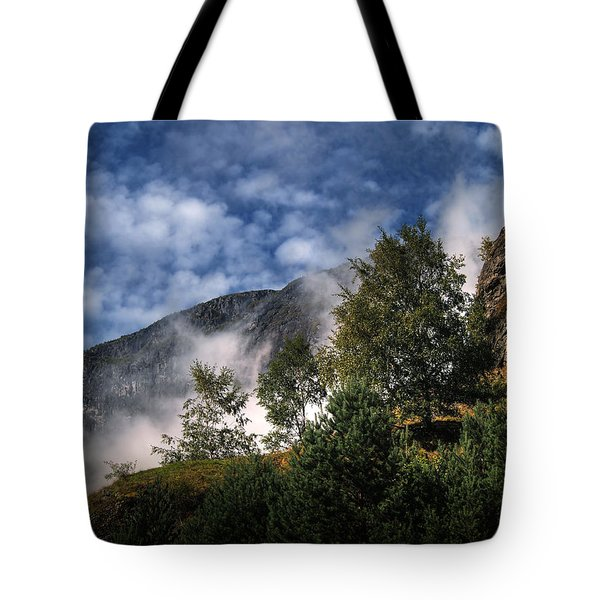 Tote Bag featuring the photograph Norway Mountainside by Jim Hill