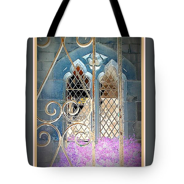 Nostalgic Church Window Tote Bag by The Creative Minds Art and Photography