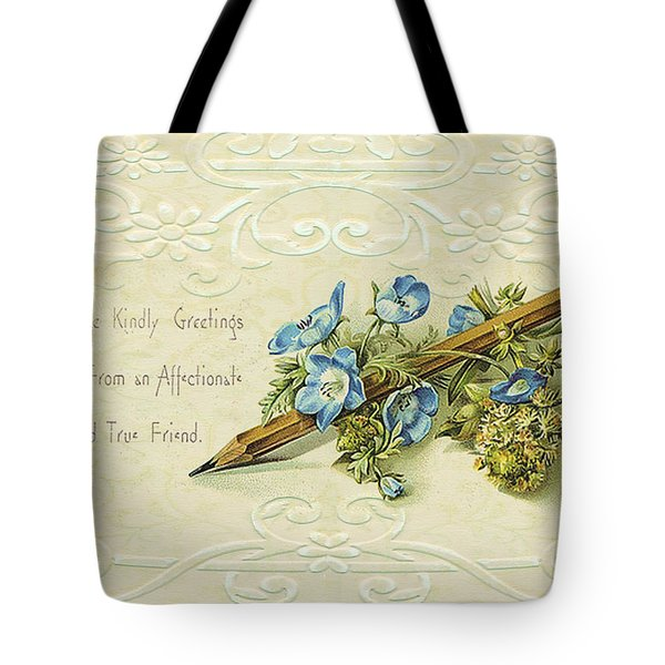 Tote Bag featuring the digital art Nostalgic Greeting Card by Sandra Foster