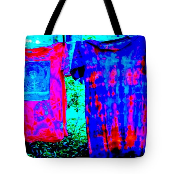 Tote Bag featuring the photograph Not Fade Away - Tie Dye by Susan Carella