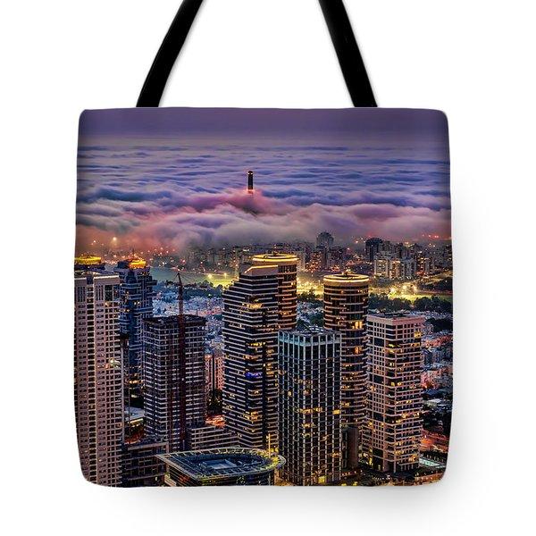 Tote Bag featuring the photograph Not Hong Kong by Ron Shoshani