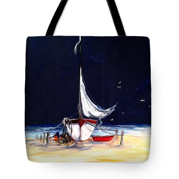 Not Ready Yet Tote Bag by Dorothy Maier