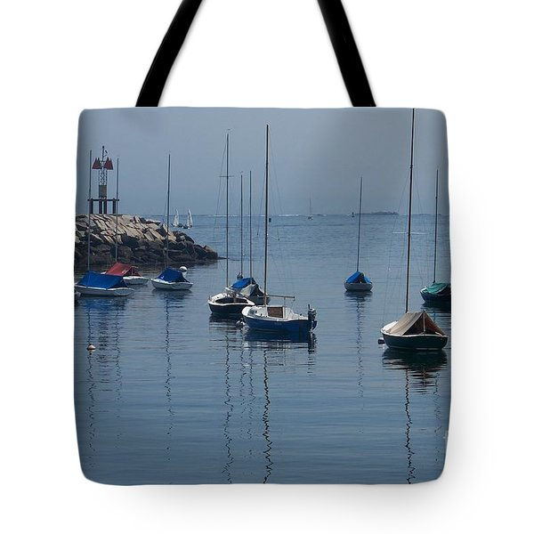 Tote Bag featuring the photograph Sail Boats  by Eunice Miller