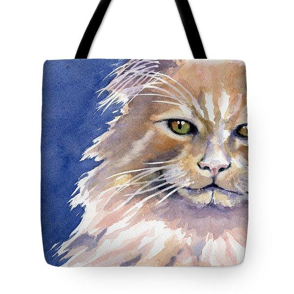 Not Too Happy Tote Bag by Marsha Elliott