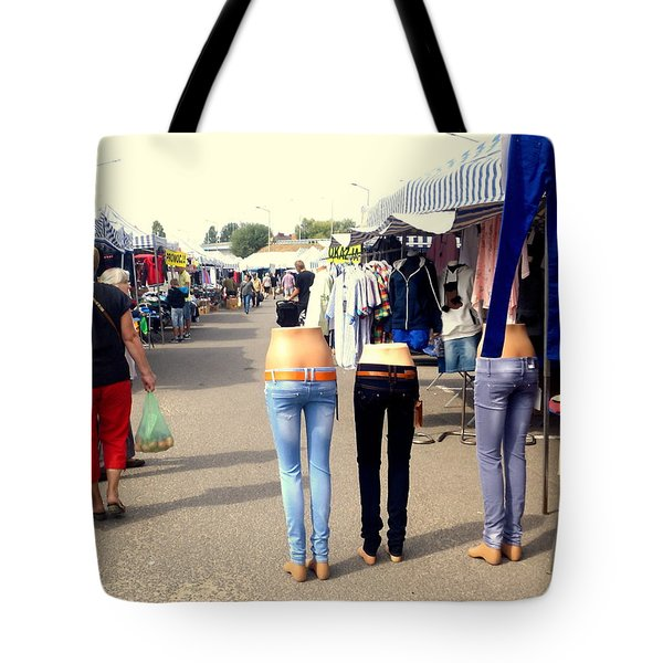 Nothing Less Than Three Graces Tote Bag