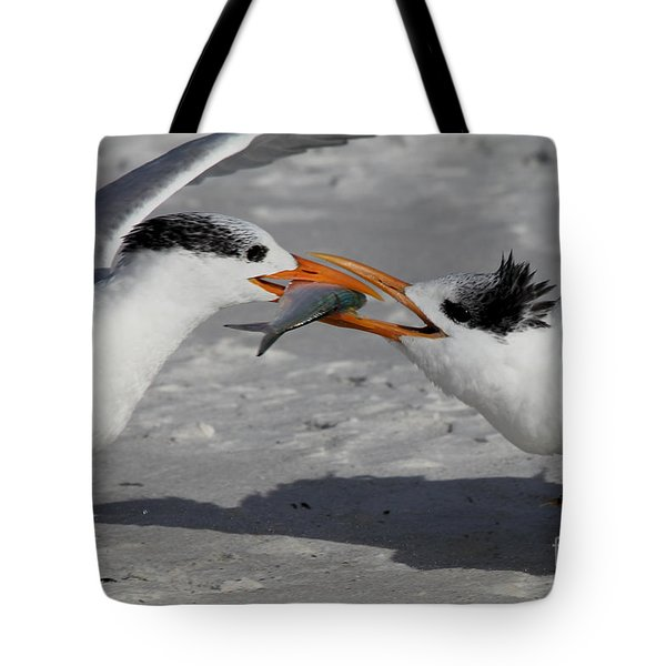 Nothing Says I Love You Like A Fish Tote Bag by Meg Rousher