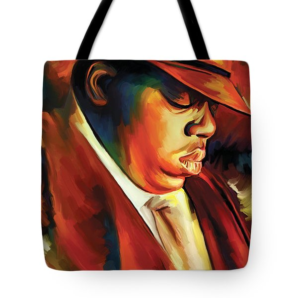 Notorious Big - Biggie Smalls Artwork Tote Bag
