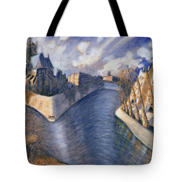 Notre Dame Cathedral Tote Bag by Charlotte Johnson Wahl