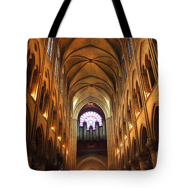 Notre Dame Ceiling Tote Bag