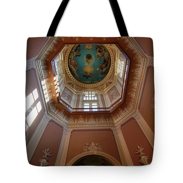 Notre Dame Ceiling Tote Bag by Dan Sproul