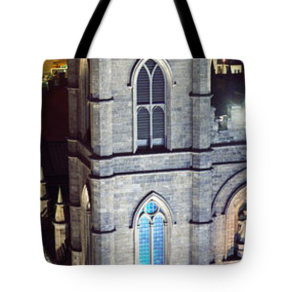 Notre Dame De Montreal At Night Tote Bag