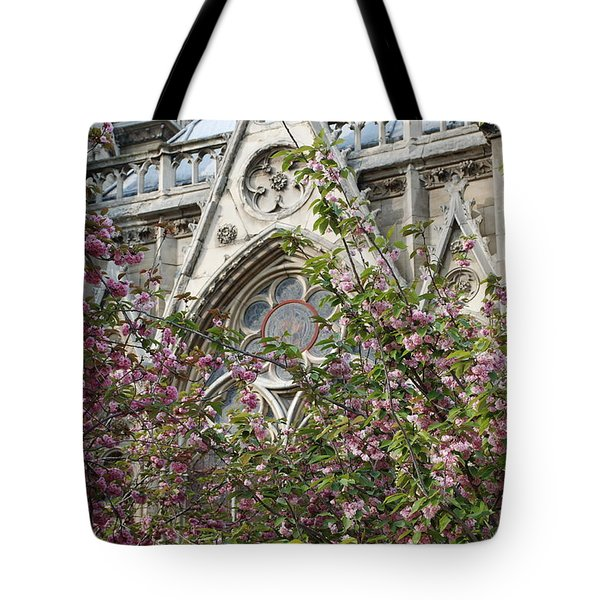 Notre Dame In April Tote Bag
