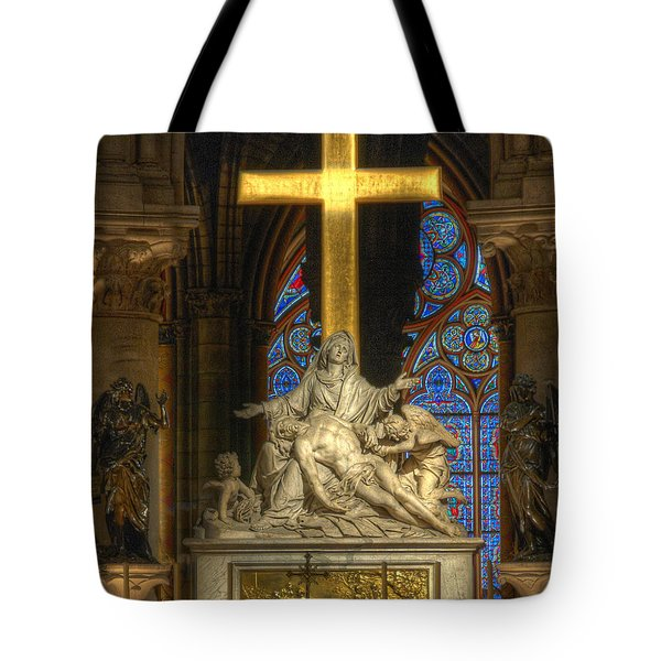 Notre Dame Pieta Tote Bag
