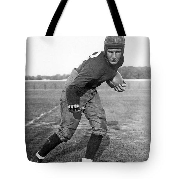 Notre Dame Star Halfback Tote Bag by Underwood Archives