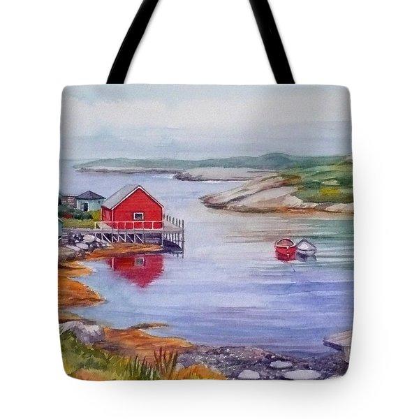 Nova Scotia Harbor Tote Bag