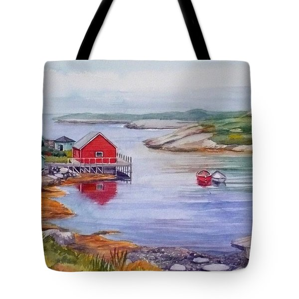 Nova Scotia Harbor Tote Bag