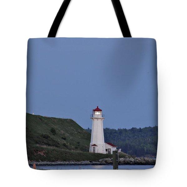 Nova Scotia Lighthouse Tote Bag by Nancy De Flon