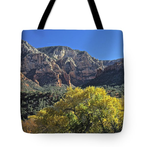 Tote Bag featuring the photograph November In Sedona by Penny Meyers