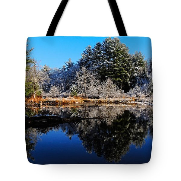 November Snow Tote Bag by Mim White