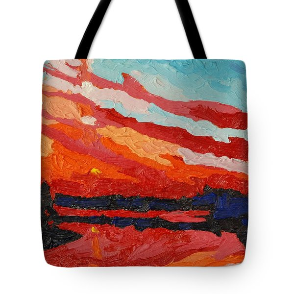 November Sunset Tote Bag by Phil Chadwick