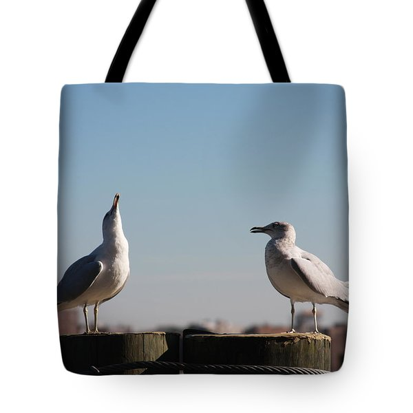 Now Listen To Me Tote Bag