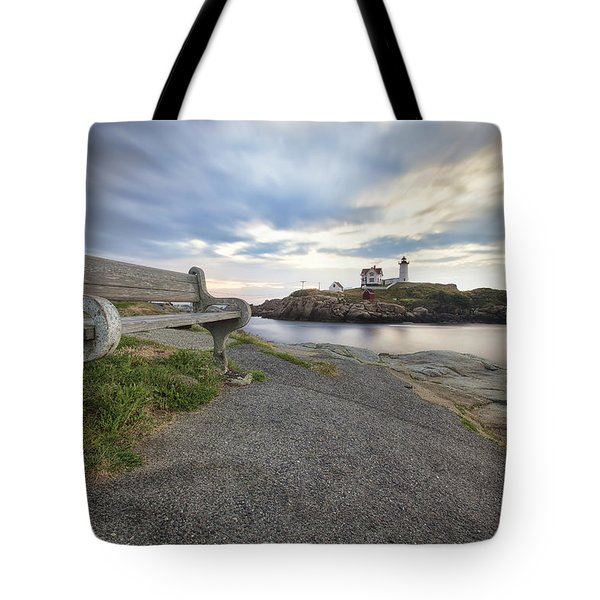 Nubble Bench Tote Bag by Eric Gendron