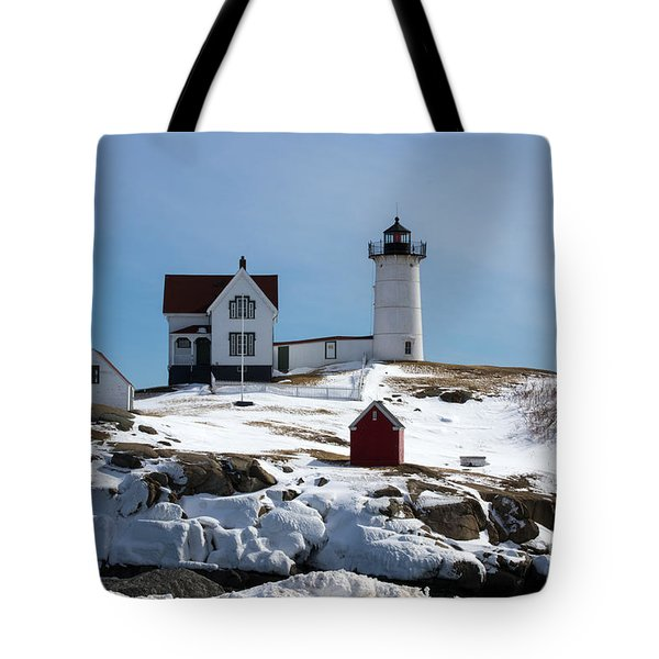 Nubble Light 2 Tote Bag by Kevin Fortier