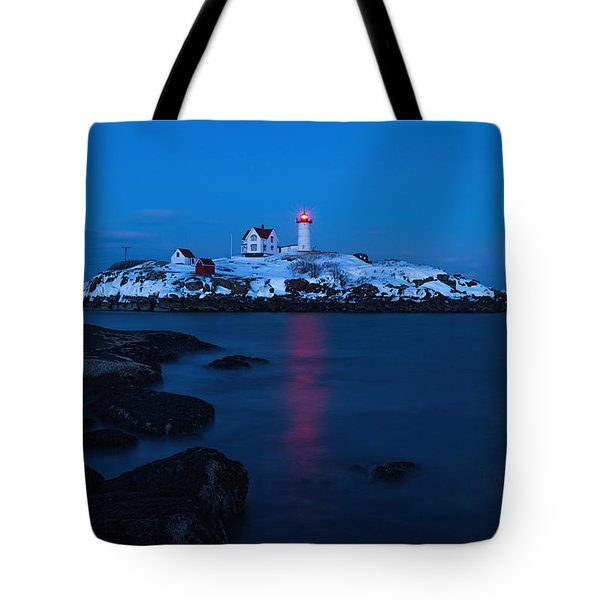 Nubble Light Reflections Tote Bag by Sharon Seaward