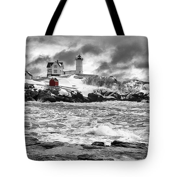 Nubble Lighthouse After The Storm Tote Bag