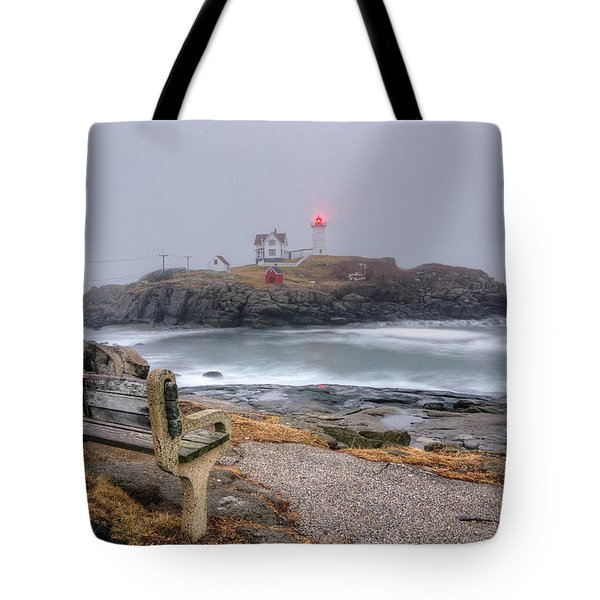 Nubble Lighthouse View Tote Bag