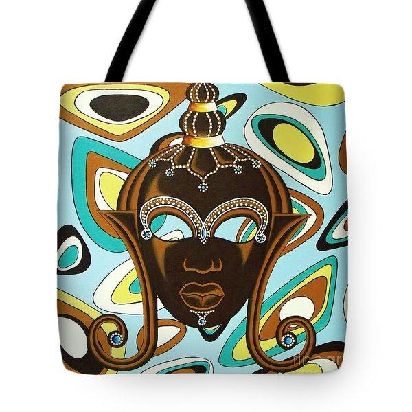 Nubian Modern  Mask Tote Bag