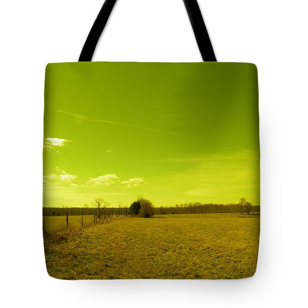 Tote Bag featuring the photograph Nuclear Fencerow by Nick Kirby