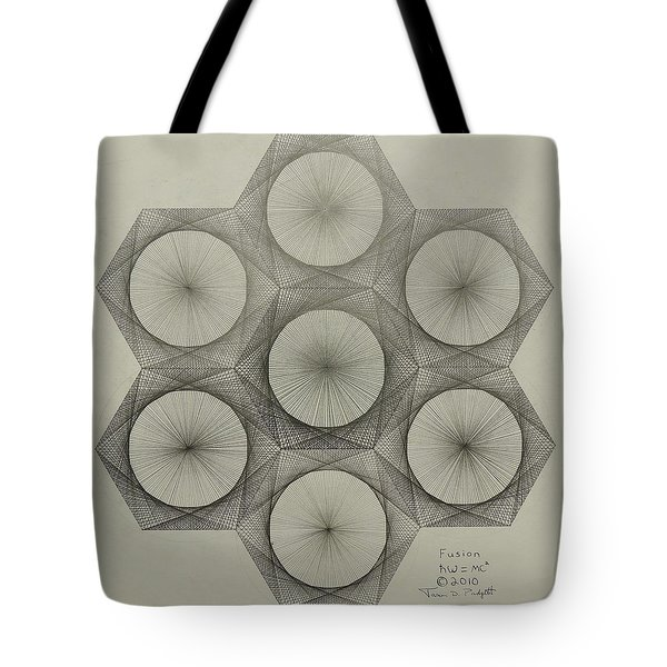 Nuclear Fusion Tote Bag by Jason Padgett