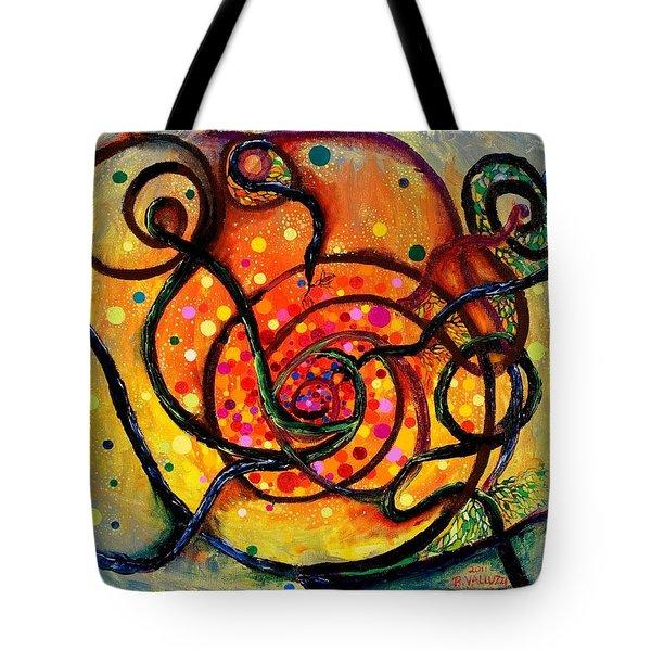 Nuclear Fusion Tote Bag by Regina Valluzzi