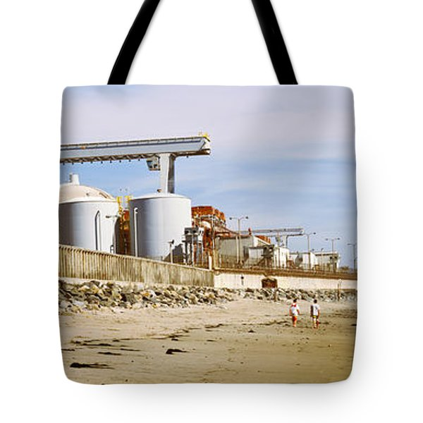 Nuclear Power Plant On The Beach, San Tote Bag