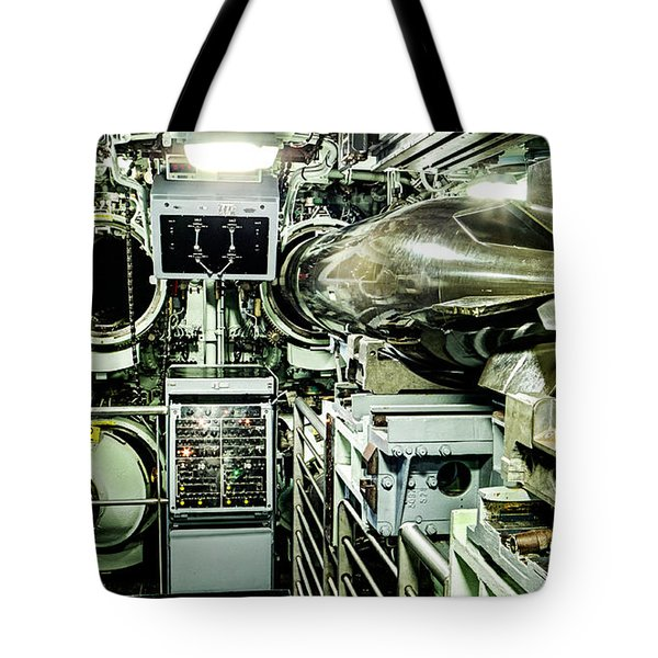 Nuclear Submarine Torpedo Room Tote Bag