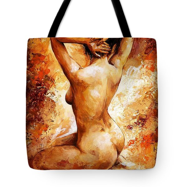 Nude 06 Tote Bag by Emerico Imre Toth