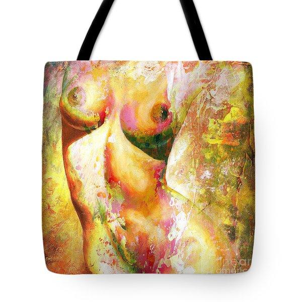 Nude Details - Digital Vibrant Color Version Tote Bag