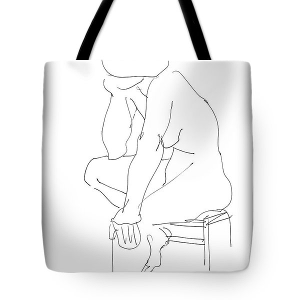 Nude Female Drawings 12 Tote Bag