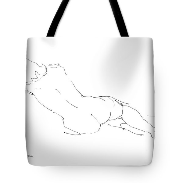Nude Female Drawings 9 Tote Bag