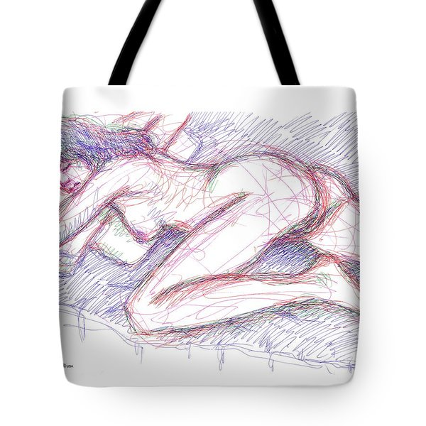 Nude Female Sketches 5 Tote Bag