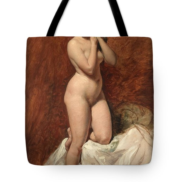 Nude From The Front Tote Bag by William Etty