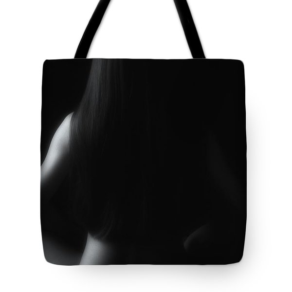 Nude In Black And White Tote Bag by Jeff Breiman