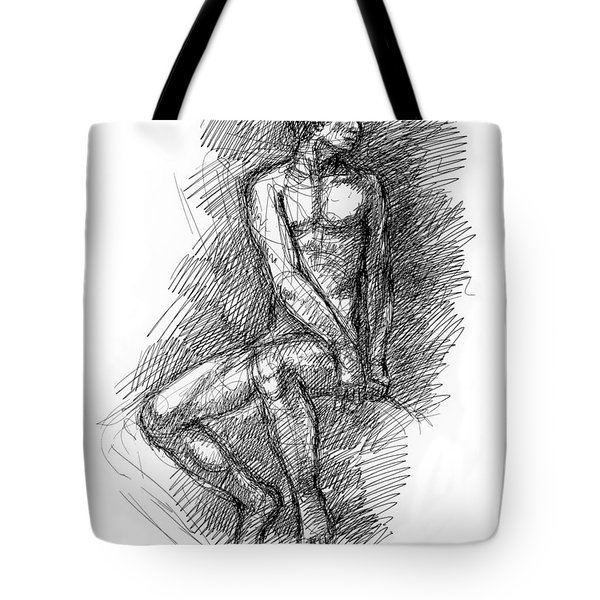 Nude Male Sketches 1 Tote Bag