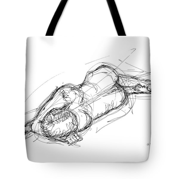 Nude Male Sketches 4 Tote Bag