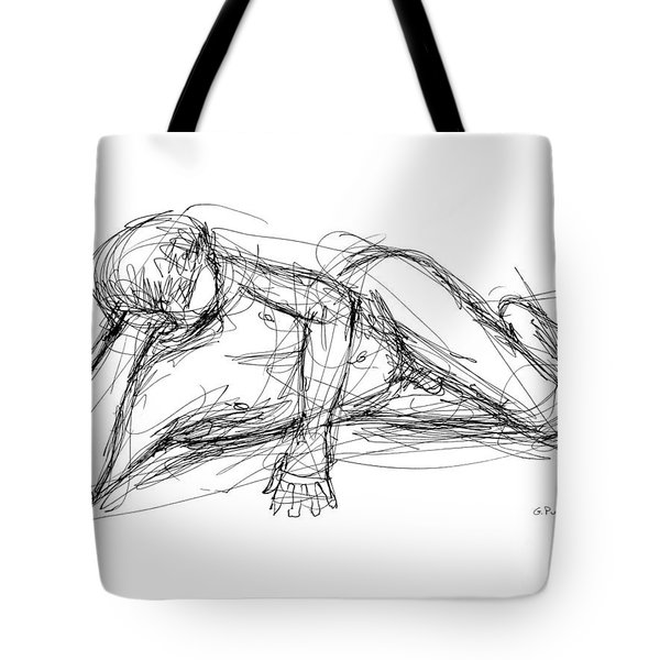 Nude Male Sketches 5 Tote Bag
