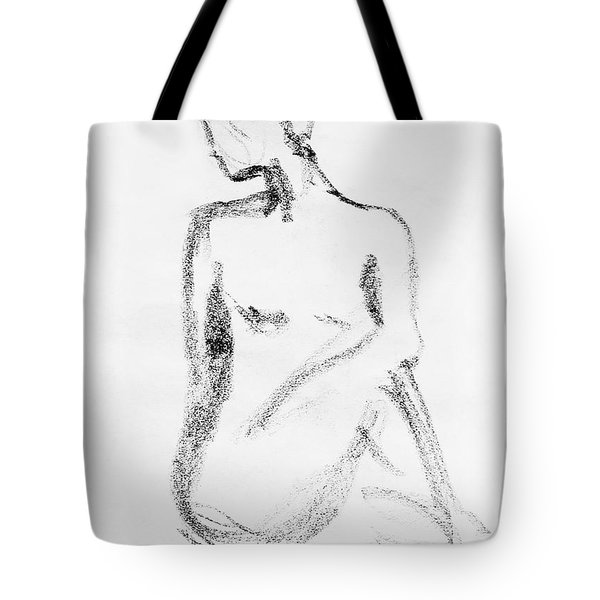 Nude Model Gesture Vi Tote Bag