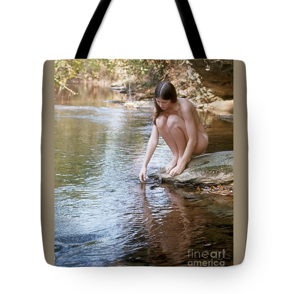 Tote Bag featuring the photograph Nude With Reflection by ELDavis Photography