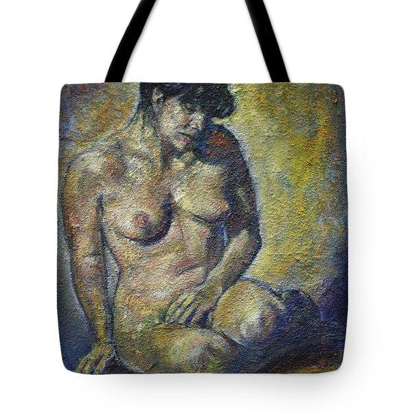 Sad - Nude Woman Tote Bag