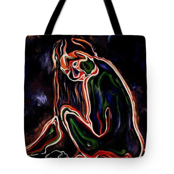 Outlined Nude 1 Tote Bag